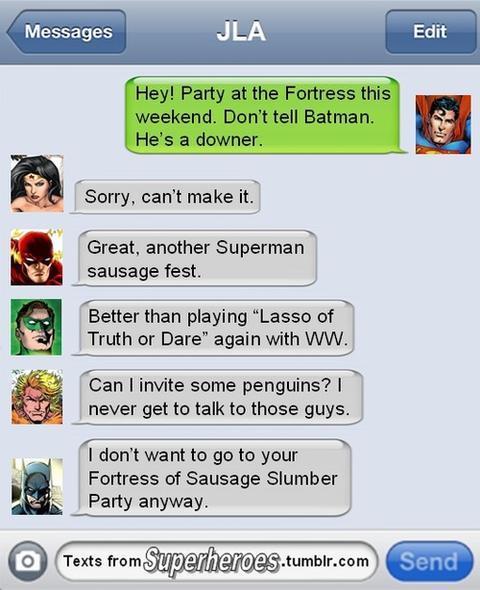 Superhero text sms 2