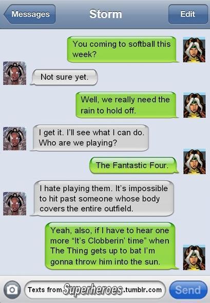 Superhero text sms 3