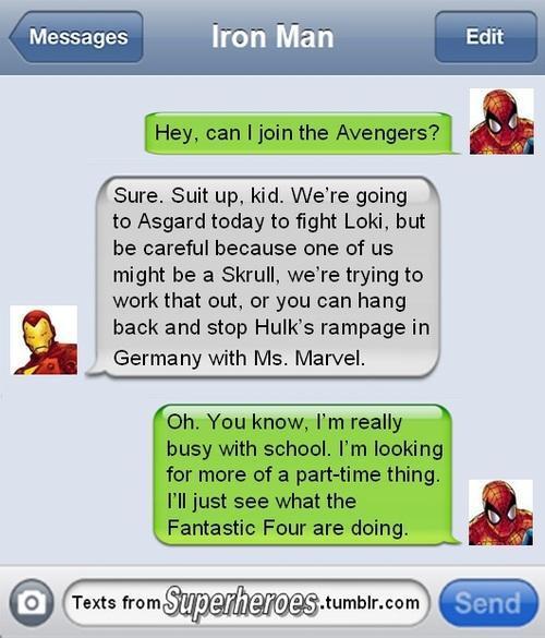 Superhero text sms 4