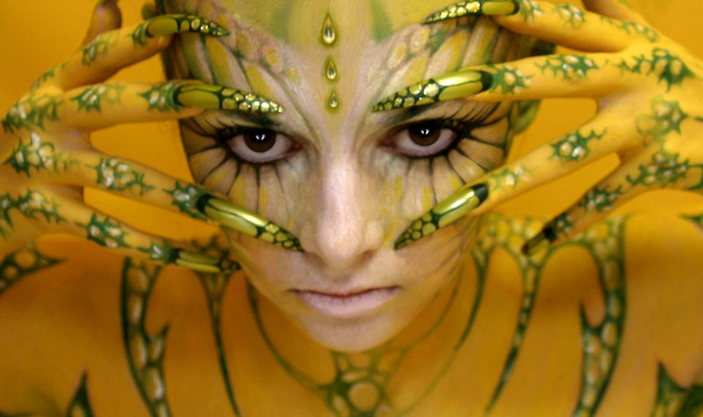 body paint aliens 2