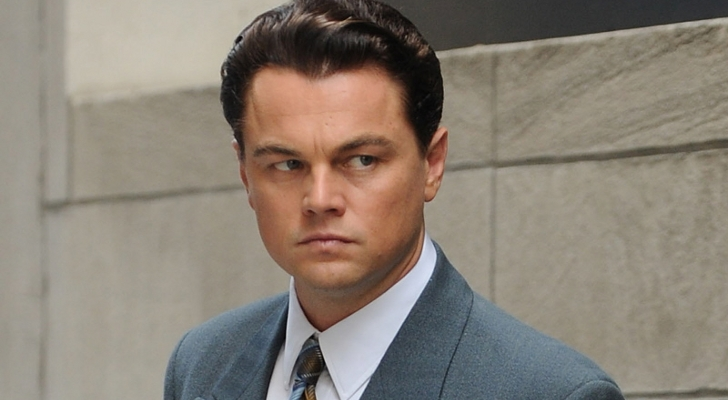 Leonardo Di Caprio as Jordan Belfort in The Wolf of Wallstreet