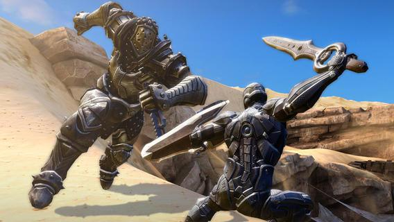 Infinity Blade III on the iPhone 5s