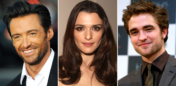 A- List actors Jackman, Weisz and Pattinson