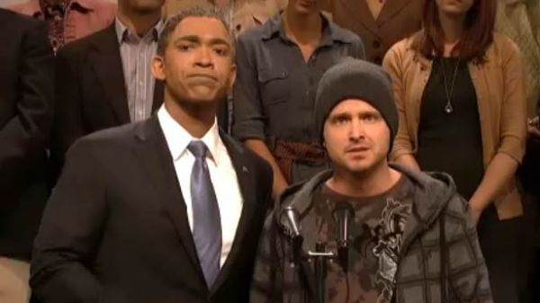 'SNL' Video: Aaron Paul Surprise Cameo as Jesse Pinkman