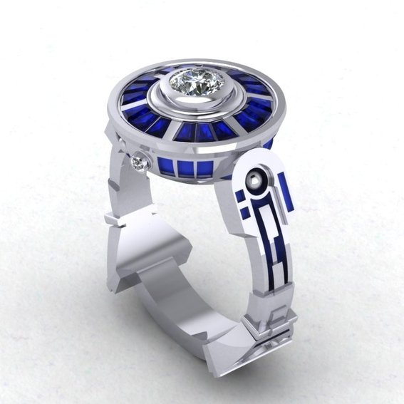 Awesome R2D2 Wedding Ring GeekShizzle