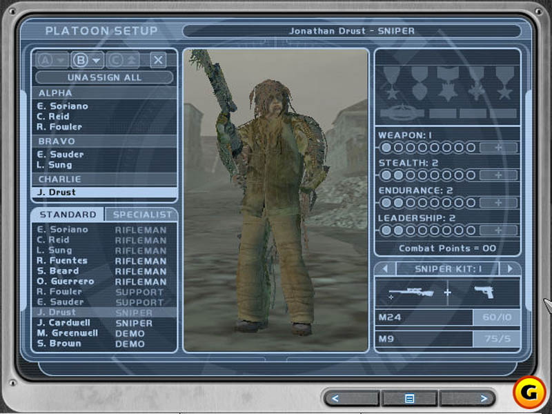 The First Ghost Recon Game, 2001