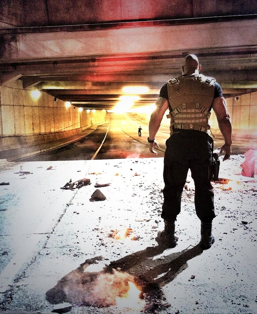 Dwayne Johnson Tweets Fast and Furious 7 Photo