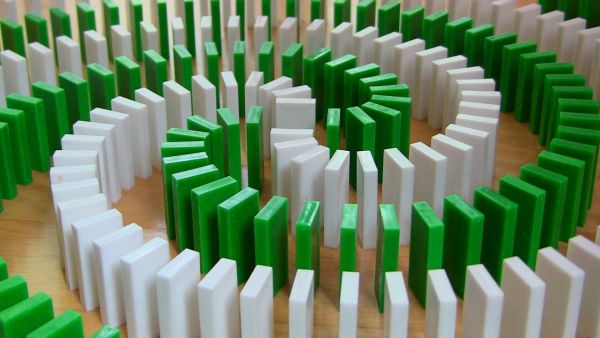 Video: Extraordinary 25000 Domino Trick!