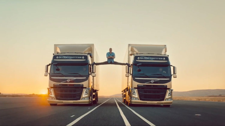 Jean-Claude Van Damme does his Epic Split in new Volvo Add