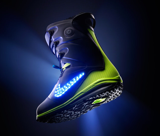 Must Have Nike Snowboarding Boots with Glowing Logo