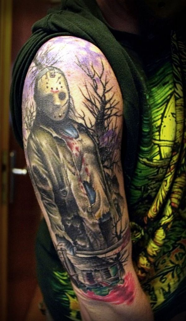 freaky 39 friday the 13th 39 tattoos geekshizzle. Black Bedroom Furniture Sets. Home Design Ideas