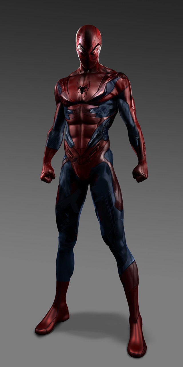 "Unused ""Amazing Spider-Man"" Costume Concept Art - GeekShizzle"