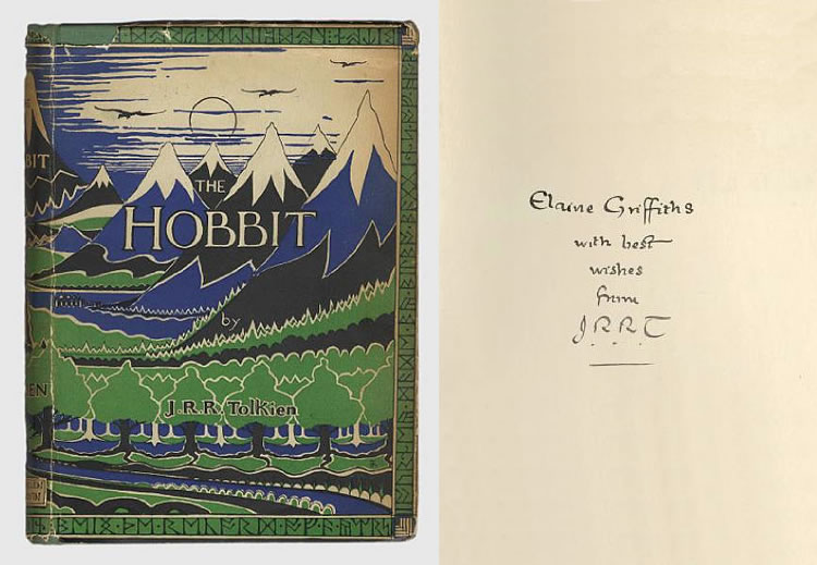 This copy was sold for a massive $120 800, setting a new record for The Hobbit
