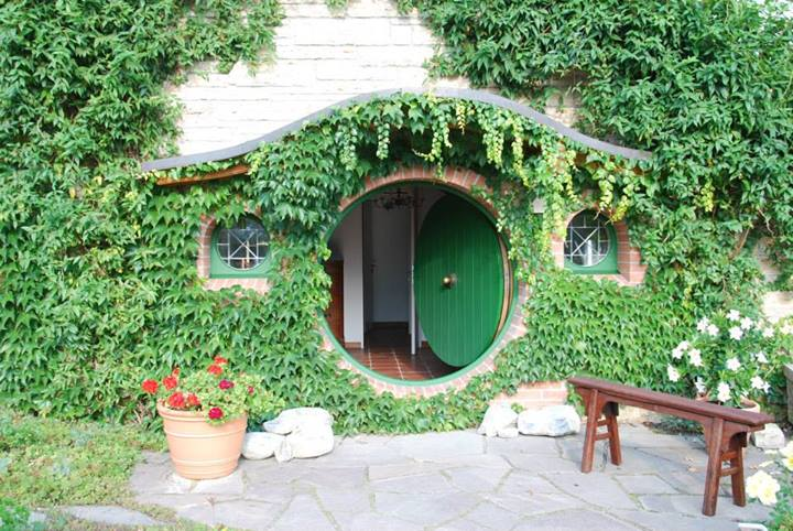 The entrance to the Museum starts with a Hobbit Hole