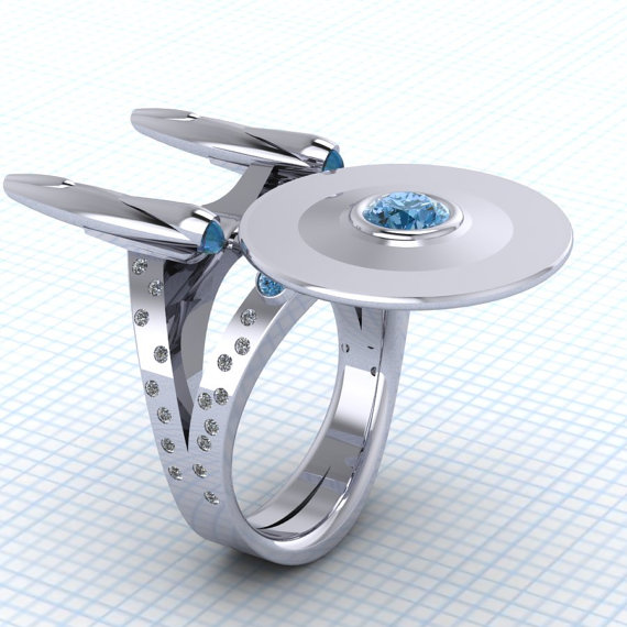 The Ultimate Geek Wedding Ring for Trekkies