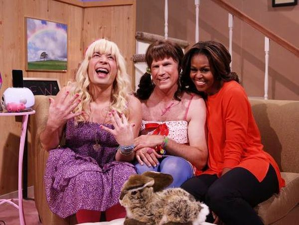 Video: Michelle Obama Joins Jimmy Fallon and Will Ferrell in 'Ew!' Sketch