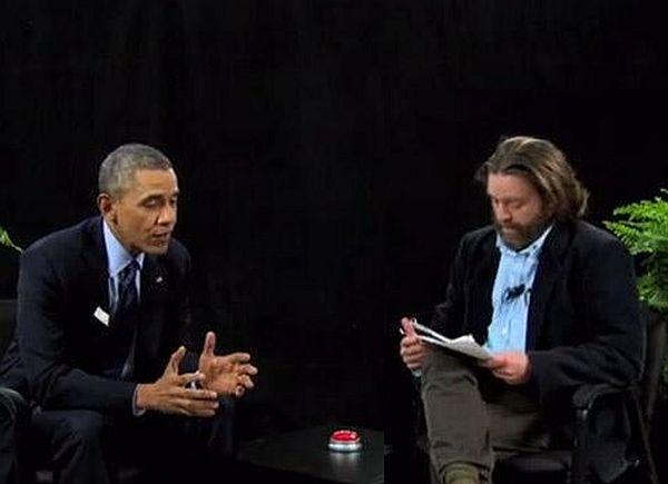 Funny or Die Sketch Features Zach Galifianakis and President Obama