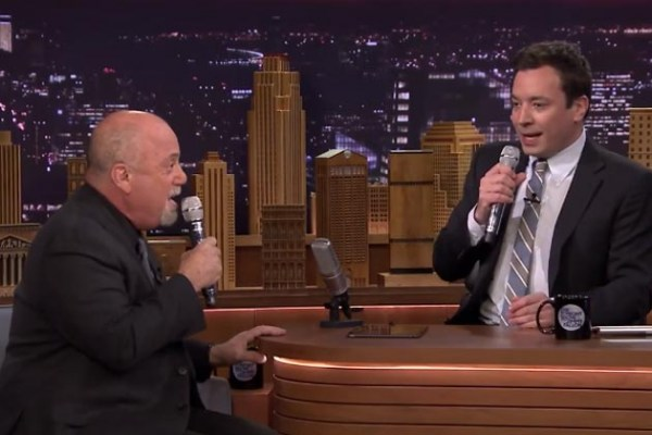 Jimmy Fallon and Billy Joel Sing Doo-Wop Duet Using iPad App