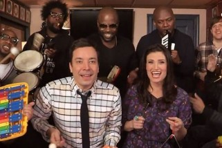 Jimmy Fallon, The Roots  and Idina Menzel Sings 'Let It Go' Using Classroom Instrument