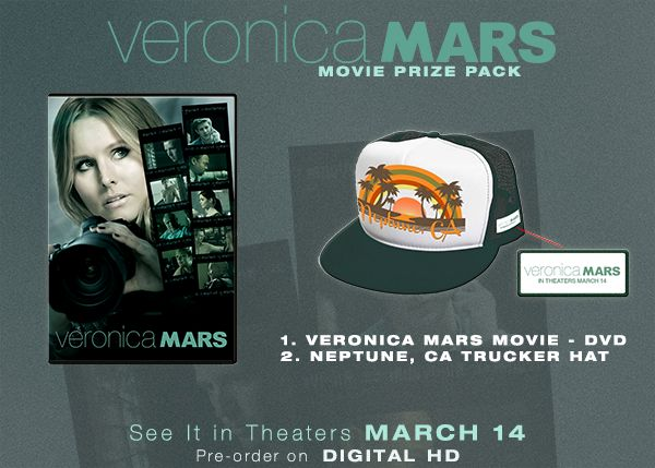 'Veronica Mars' Prize Pack Giveaway