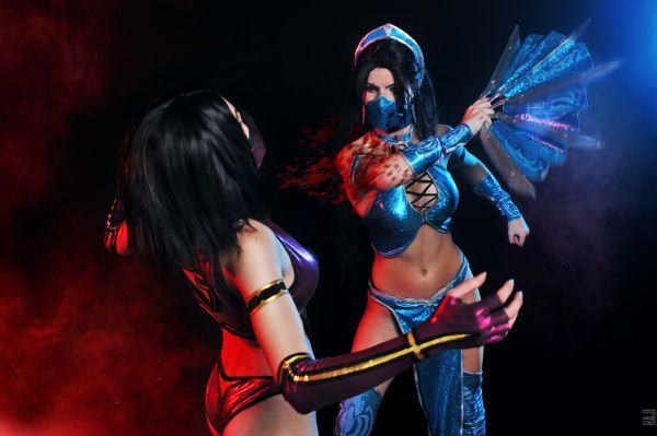 Mortal Kombat Cosplay by Evgeniya and AsherWarr courtesy of deviantart.com