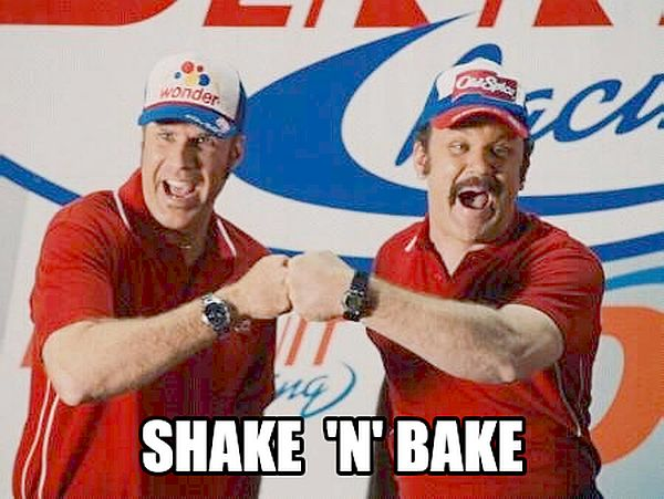 Wife shake and bake ass