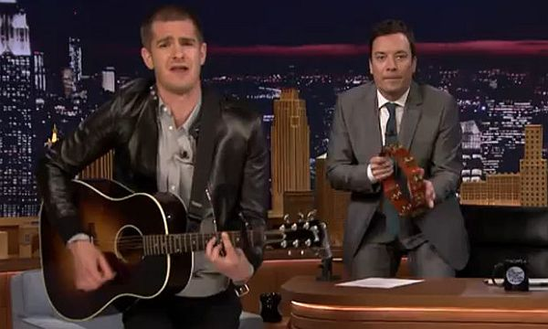 Andrew Garfield's 'Spider-Man' Theme Song Rocks on Jimmy Fallon's 'Tonight Show'