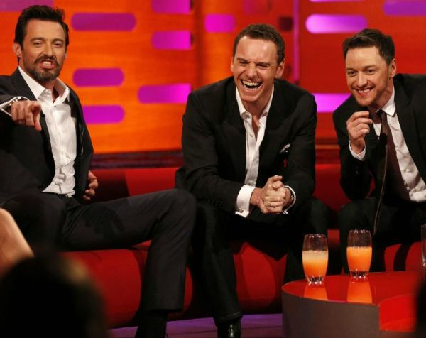 Hugh Jackman, Michael Fassbender and James McAvoy Dance To 'Blurred Lines'