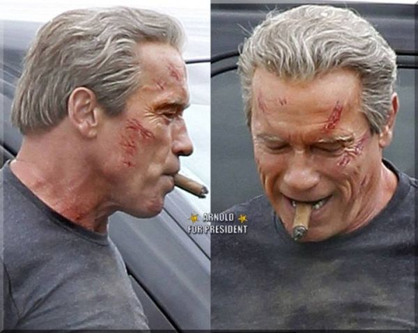 Pictures of Arnold Schwarzenegger's Aging Cyborg Emerge for 'Terminator: Genesis'