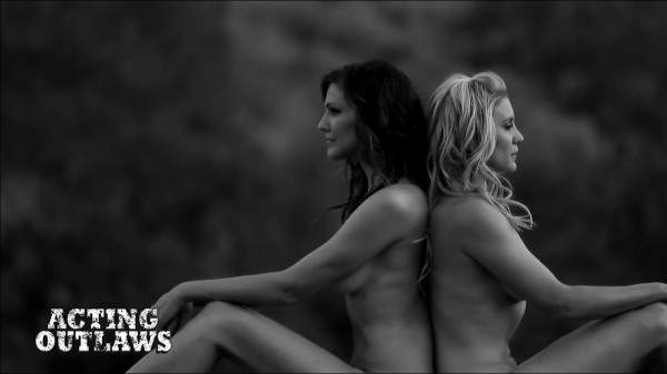Acting-outlaws-calendar-2014-Tricia-Helfer-and-Katee-Sackhoff-naked-back-to-back