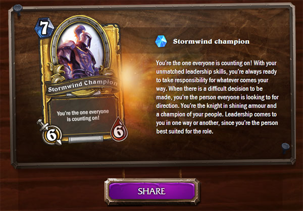 Which HearthStone Card Are You – Innkeeper Quiz