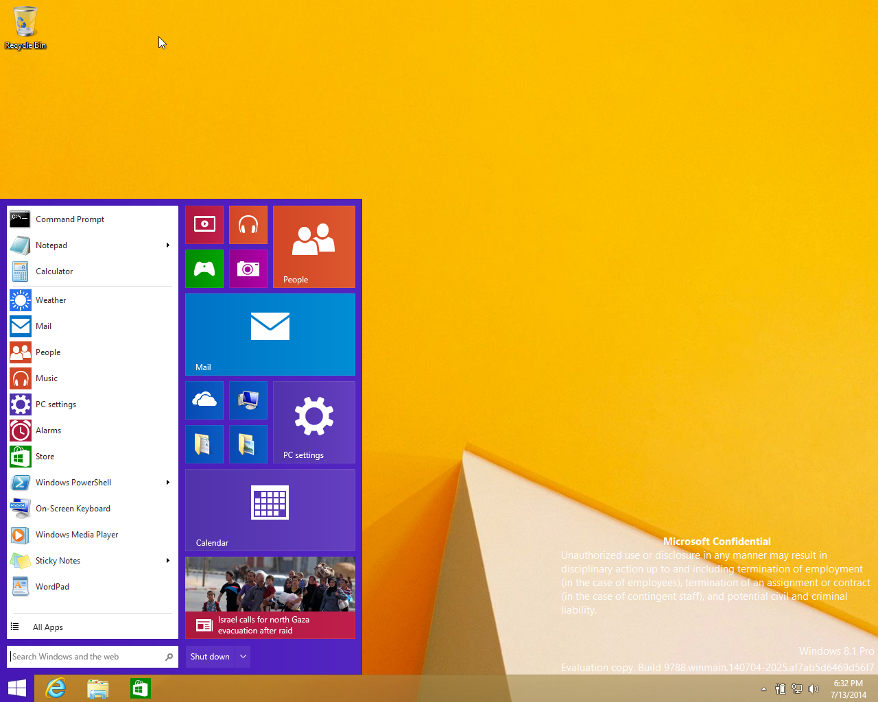Windows 9 Leaked Image Shows New Start Menu