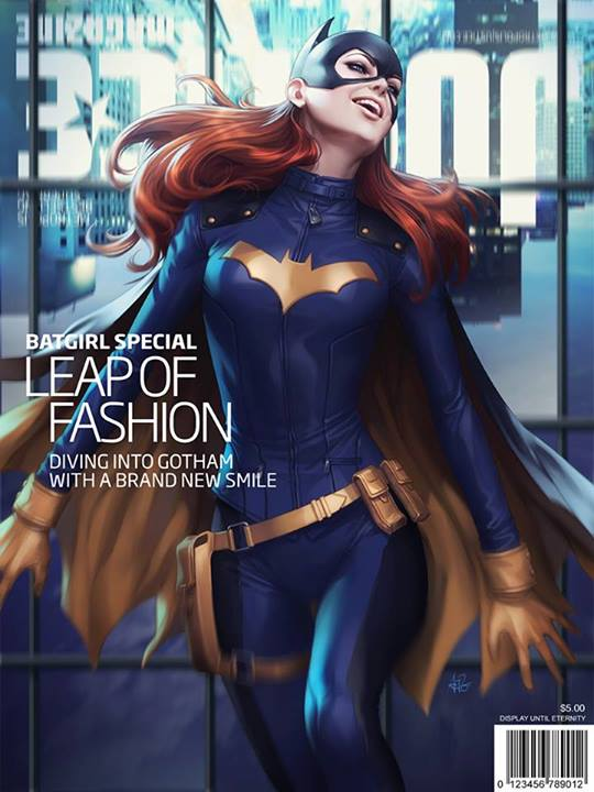 Artgerm Completes Latest Batgirl Justice Magazine Cover