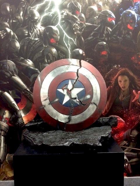 Cracked Captain America Shield Shown at Comic-Con