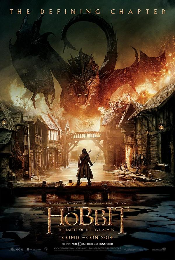 The Hobbit – The Battle Of The Five Armies Poster Revealed at Comic-Con 2014