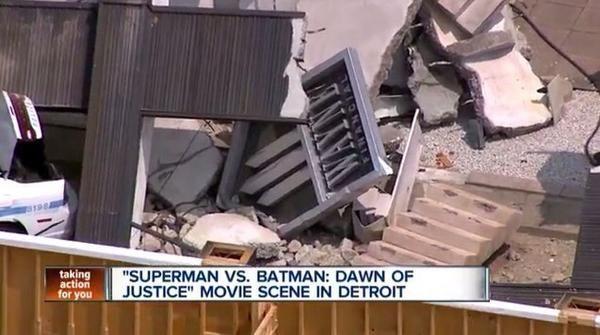 'Batman v Superman: Dawn of Justice' Video Shows Wrecked Wayne Financial Building