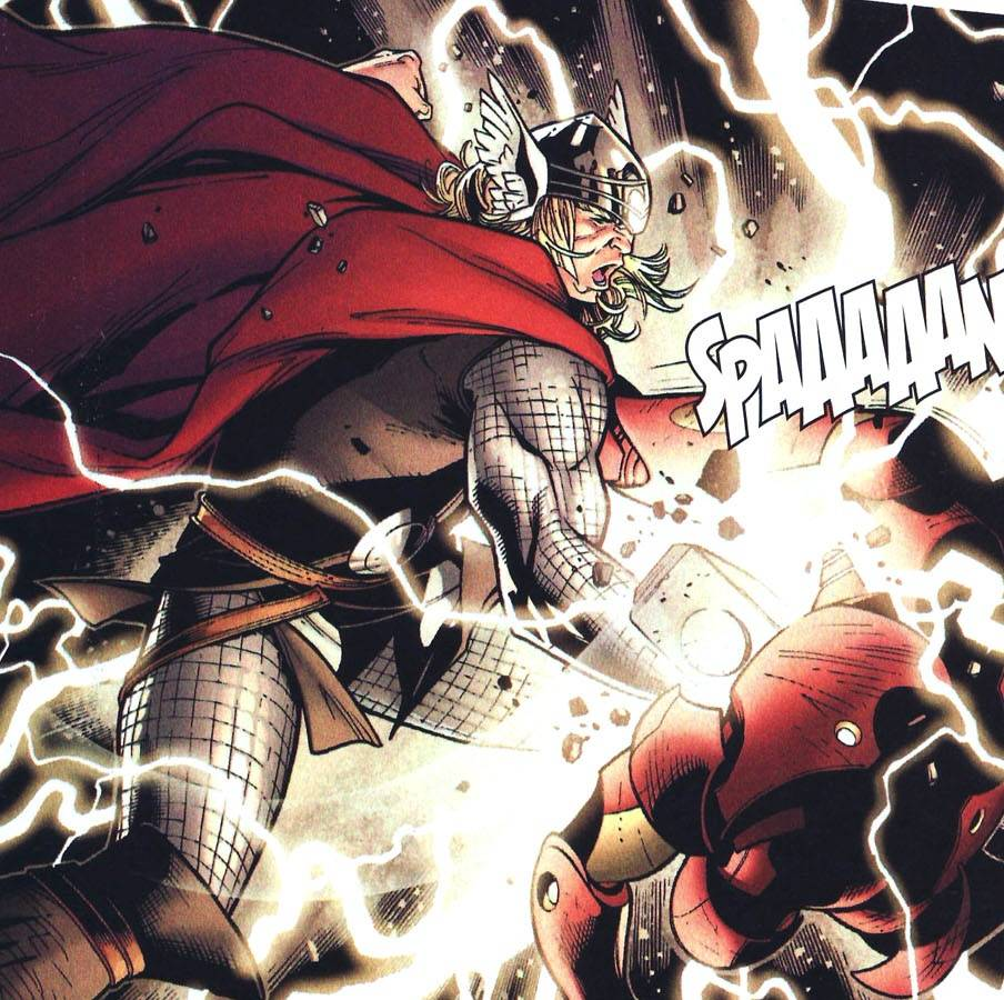 Thor kills ultron