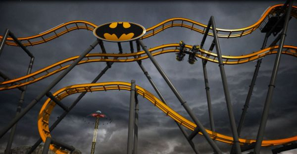 'Batman: The Ride' Roller Coaster
