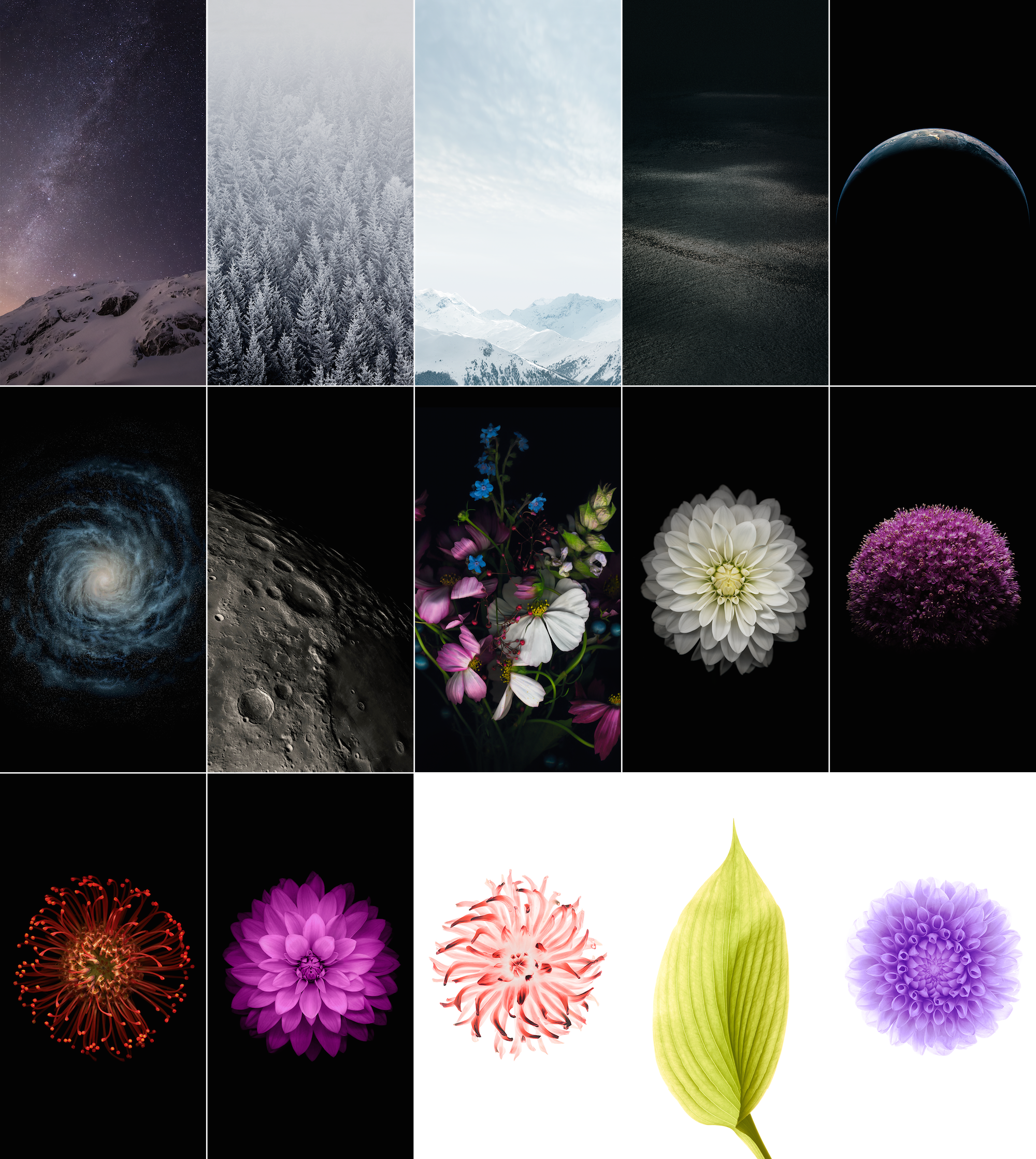 Download All iOS 8 Wallpapers