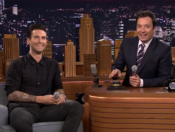 Video: Adam Levine and Jimmy Fallon Play Wheel of Musical Impressions
