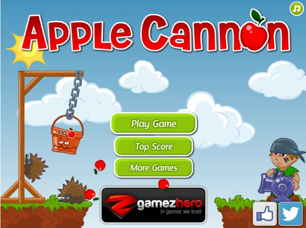 Free Online Game:Apple Cannon