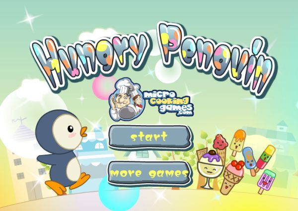 Free Online Game: Hungry Penguin
