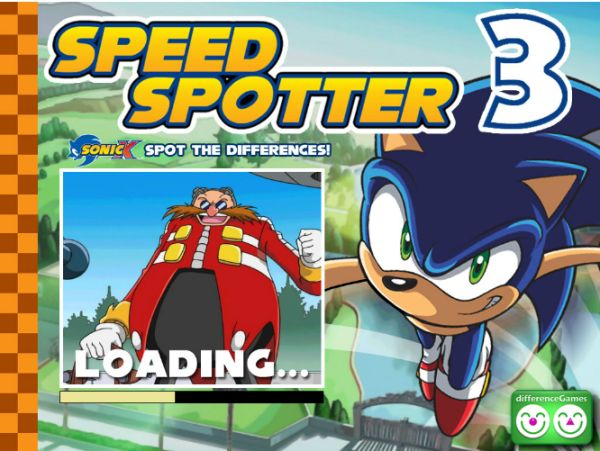 Free Online Game: Sonic Speed Spotter 3