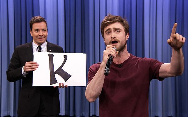 Daniel Radcliffe Delivers Rap Blackalicious' 'Alphabet Aerobics' on 'Tonight Show'