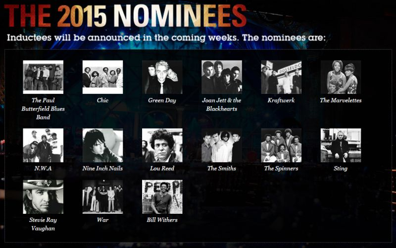 Rock and Roll Hall of Fame 2015 Nominees Announced