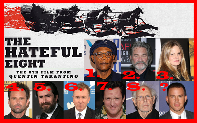 Hateful Eight Full Cast In Behind The Scenes Image