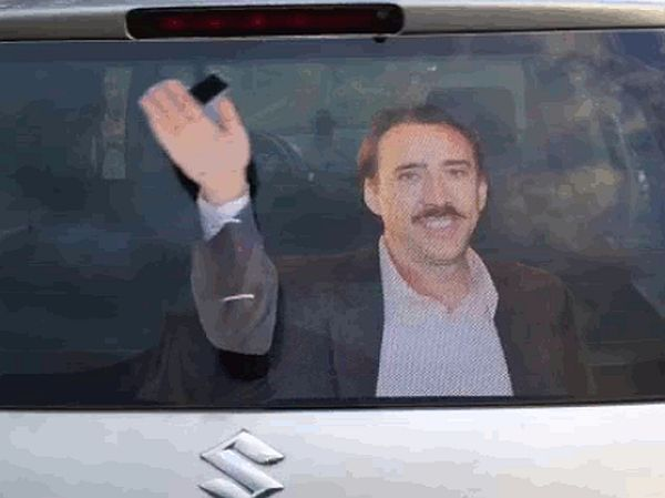 Pimp Your Ride With This Epic Waving Nicolas Cage Decal