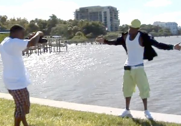 This Rapper Blown Into the Clearwater Harbor on a Windy Day is Priceless
