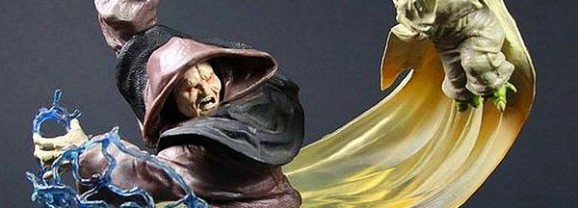 Darth Sidious and Yoda Skirmish in the Senate Statue Must Have