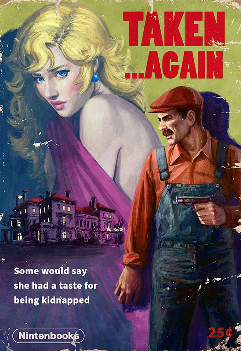 4 Popular Video Games Receive The Pulp Novel Cover Treatment
